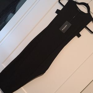 PLT sexy cutout midi black dress